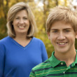 Mother and Son Smiling — Stock Photo