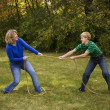 Mother and Son Tug of War — Stock Photo #3319978
