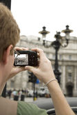Young Man Photographing the Sites — Stock Photo