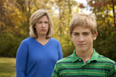 Mother and Son Frustrated — Stock Photo