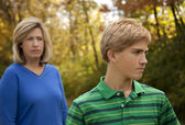 Mother and Son at Odds — Stock Photo