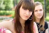 Two female friends — Stock Photo