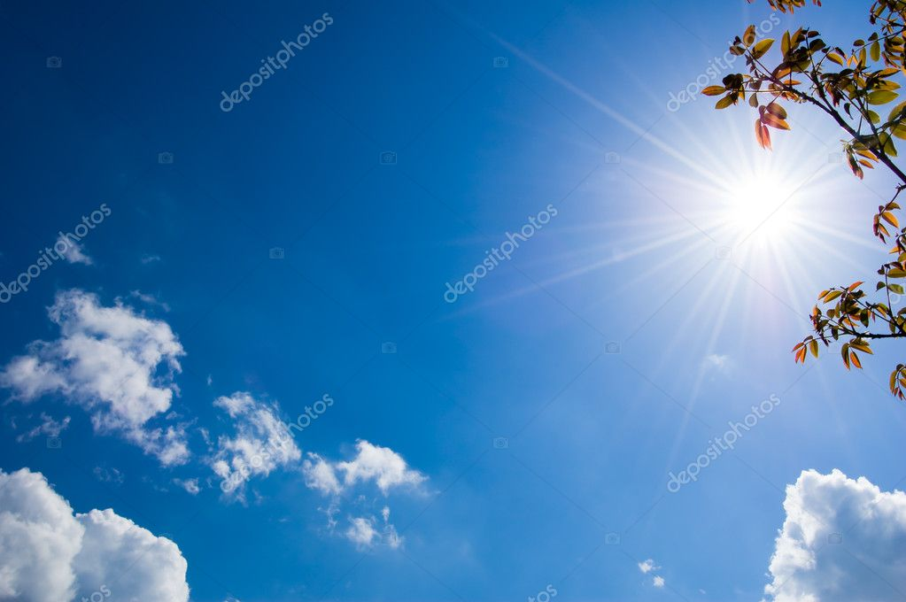Blue sky illuminated by a sunlight — Stock Photo #2882323
