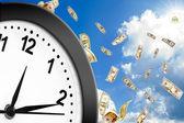 Begreppet tid är pengar. — Stockfoto
