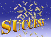 Golden success text. — Stock Photo