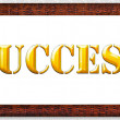 Gold word success in a frame. — Stock Photo
