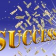 Golden success  word. — Stock Photo