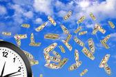 Koncepcja czas to pieniądz. — Zdjęcie stockowe