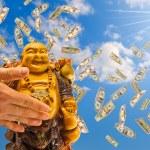 Feng shui. buddha against a sky. — Stock Photo #2976015
