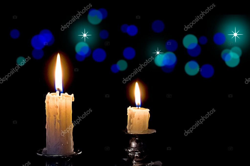 The Candles Burning in the Dark. — Stock Photo #3000424