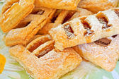 Puff pastry with apple jam. — Stock Photo