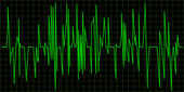 Green Waveform. — Stock Photo
