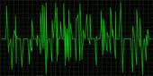 Green Waveform. Vector — Stock Vector