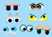 Set of eyes. vector — Stock Vector