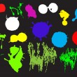 Set of colored blots. Vector — Imagen vectorial