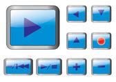 Blauwe knoppen. eps10 vector. — Stockvector