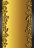 золото баннер. векторные иллюстрации. — Cтоковый вектор