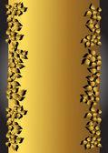 Gold banner. Vector illustration. — Stock Vector