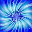Abstract swirl in blue color. Vector illustration. — Stock vektor