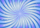 Abstract swirl background in blue color. Vector illustration. — ストックベクタ
