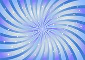 Remolino abstracto fondo en color azul. ilustración vectorial. — Vector de stock
