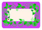 Floral card. Vector illustration. — Stock Vector