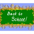 Royalty-Free Stock Vector Image: Back to school - card. Vector illustration.