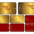 ストックベクタ: Set of golden cards. Vector.