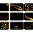 Stock Vector: Set of black cards. Vector.