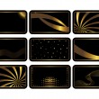 Set of black cards. Vector. — Image vectorielle