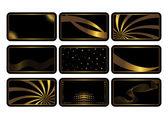 Conjunto de tarjetas negras. vector. — Vector de stock