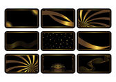 Set of black cards. Vector. — Vector de stock