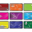 Set of credit cards. Vector illustration. — Imagens vectoriais em stock