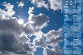Kalendarz na 2011 rok. — Zdjęcie stockowe
