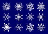 雪片のベクトルを設定. — ストックベクタ