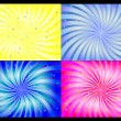 Spiral background set. vector illustration. — Stock Vector #3910232
