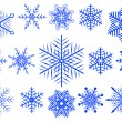 Stock Vector: Vector set of snowflakes.