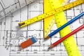 Linjaler och planer — Stockfoto