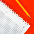 Notebook and pencil — Stock Photo #2804808