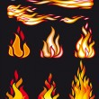 Stock Vector: Fire