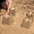 Stock Photo: Castles of Sand