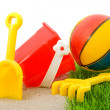 Plastic play toys for beach — Stock Photo