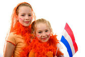 Queen's day or soccer game — Stock Photo