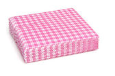 Stack of pink napkins — Stock Photo