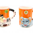 Animal mugs — Stock Photo