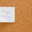 Memo board with message — Stock Photo #2825973