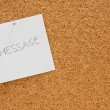 Memo board with message — Stock Photo #2826010