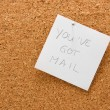 Memo board with message — Stockfoto