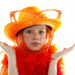 Dutch orange soccer supporter - Stock Photo