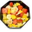 Bowl with fresh fruits — Stock Photo
